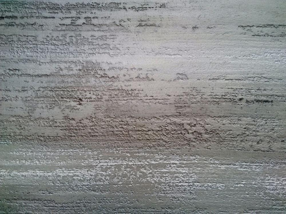effet de matière minéral : béton strié et nacré