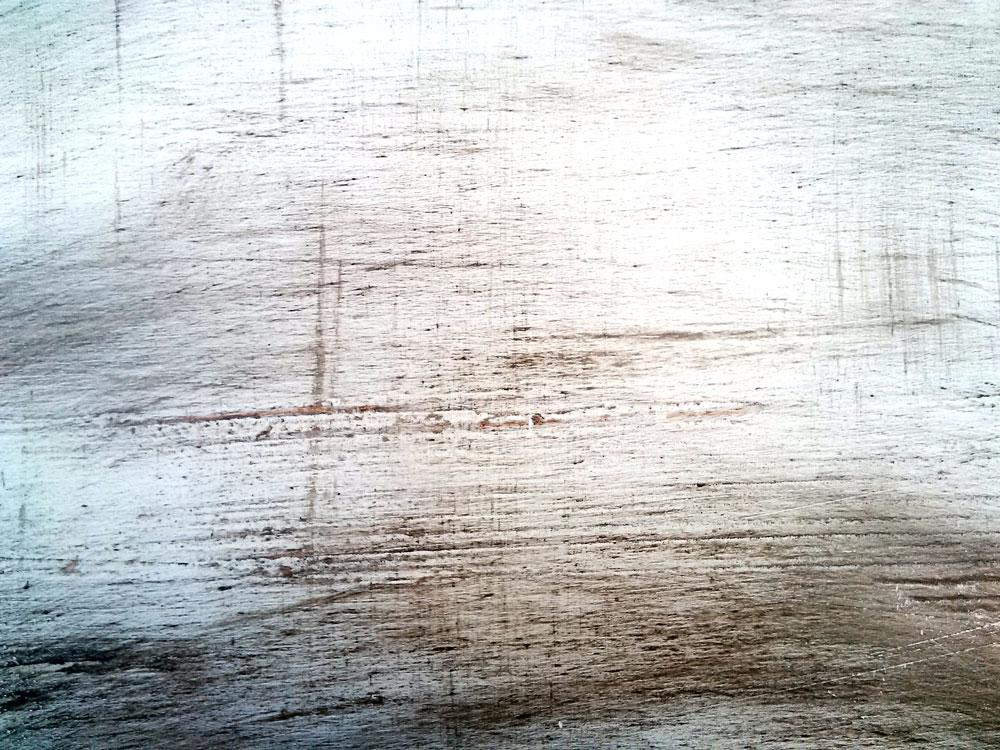 effet de matière bouleau balayé au stucco, patiné à la cire
