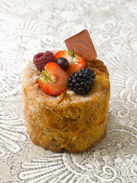 photo de pâtisserie du Café Pouchkine, photographie d Philippe Asset, fond photo en effet de matière dentelle au stucco