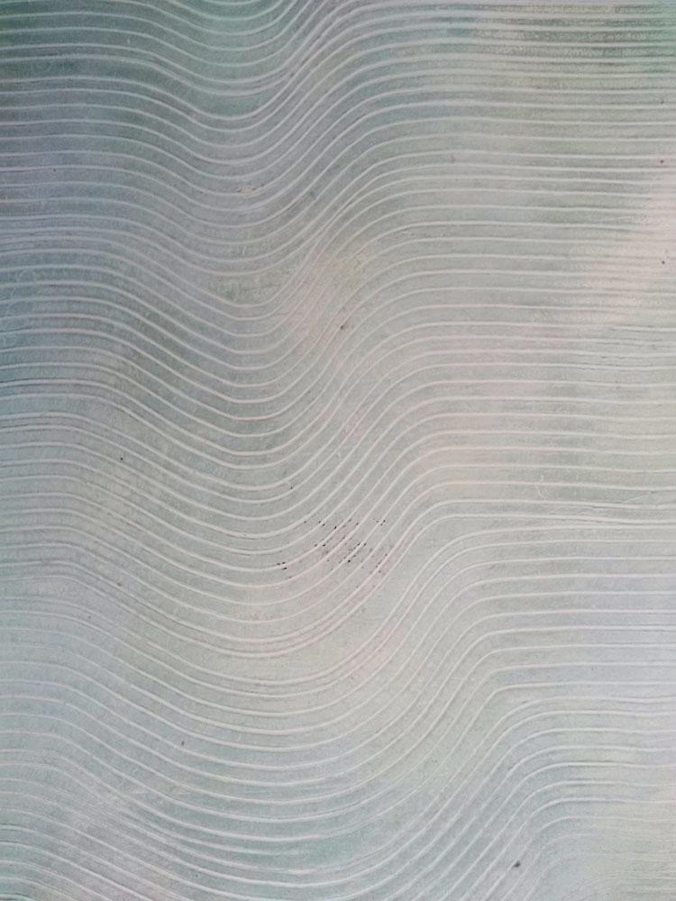 stucco strié, effet de matière onde verte céruse