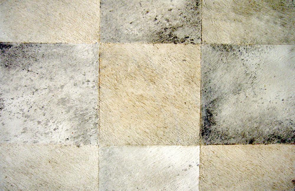 effet de matière patchwork de vachette, tons gris clair