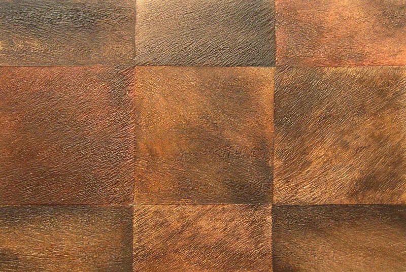 effet de matière, patchwork de vachette